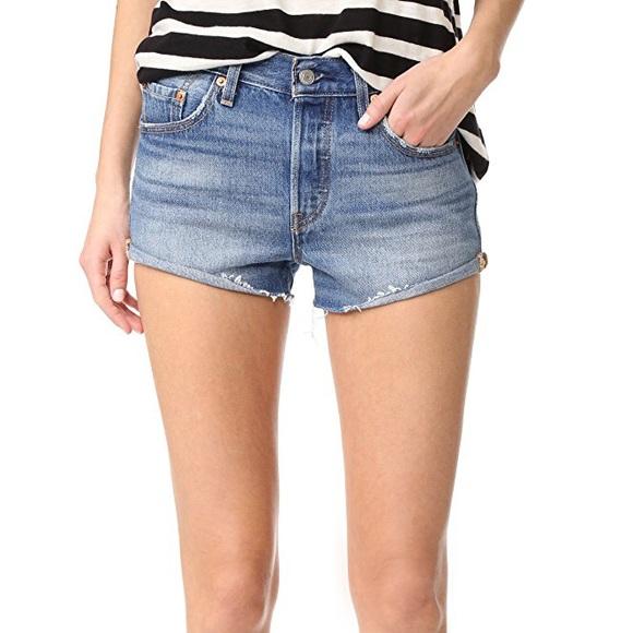 4568bbf506f Levi's Shorts | Levis 501 Denim In Blue Explorer | Poshmark